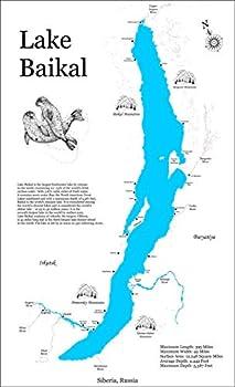 Lake Baikal  Standout Wood Map Wall Hanging