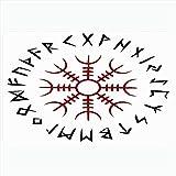 Alfombra de baño para baño Alfombrillas antideslizantes Aegishjalmur Set Nordic Power Myth Symbol Paquete aislado Signos Thor Símbolos imprimibles Objetos Imprimir Decoración de felpa Felpudo Alfombri
