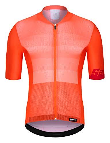 Santini Tono, kurzärmliges Trikot für Herren XL Neon Orange
