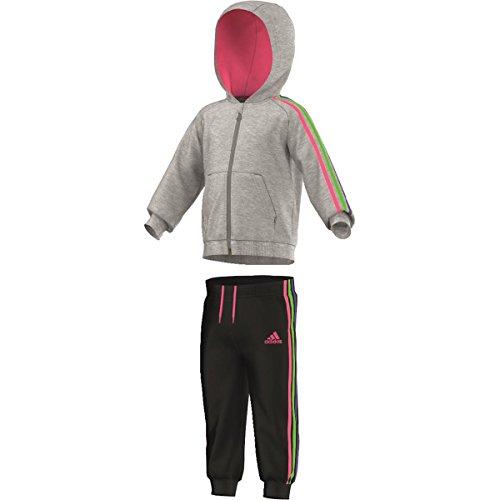 adidas Meisjes Track Pak Zwart Grijs Neon Roze Neon Groen Donker Navy