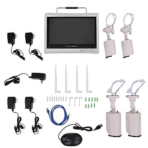 EFFACER Cámara de Seguridad para el hogar, Monitor AHD Cámara de visión Nocturna WiFi HD de 4 vías con Sensor Inteligente de Video de Pantalla para Seguridad en el hogar(100w)