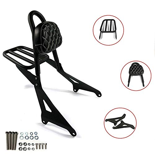 COPART Motorcycle Detachable Backrest Rear Passenger Sissy Bar with Luggage Rack For Yamaha Stryker 1300 XVS1300 2011-2017