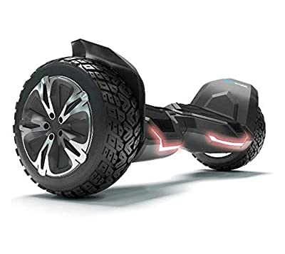 "8.5"" Premium Electric Self Balancing Scooter Bluewheel HX510 - German Quality Brand; Kids Safety Mode & App – Bluetooth Speaker LED Light - Power Dual engine - Aluminium Case - Hoverboard for Adults"