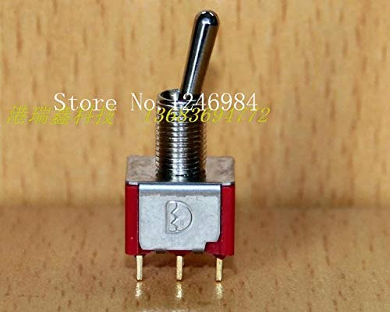 [SA]T8011 Dual gold-Plated six Foot Two tranches M6.35 Small Toggle Switch Toggle Switch Rocker Taiwan Deli Wei Q1-50pcs lot