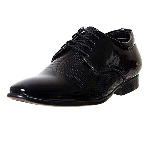 United Fashion Men's Formals Shoes (8, Black)
