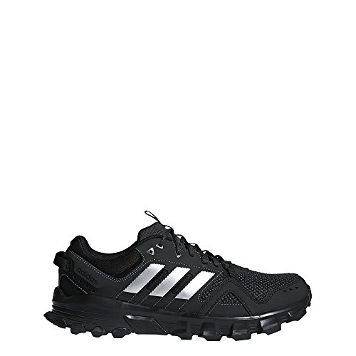 adidas Men's Rockadia m Trail Running Shoe, Core Black/Matte Silver/Carbon, 12 M US