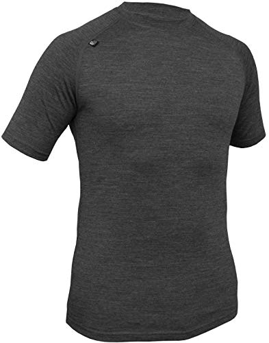 Mens Short Sleeve, Close Fit Merino Base Layer / Baselayer, T-Shirt Lightweight top, antibacterial, Quick drying, Flat seams, Hard wearing | Ideal for Hiking, Trekking, Climbing, Cycling
