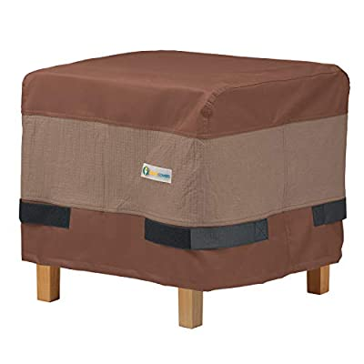 Duck Covers Ultimate Waterproof 20 Inch Square Ottoman/Side Table Cover