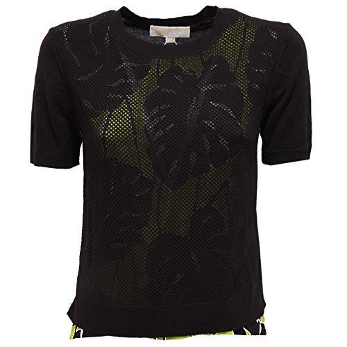 Michael Kors 2575X Maglia Donna Black/Green Woman t-Shirt [XS]