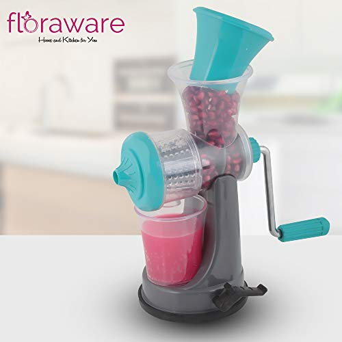 Floraware Fruit & Vegetable Nano Manual Juicer, Blue