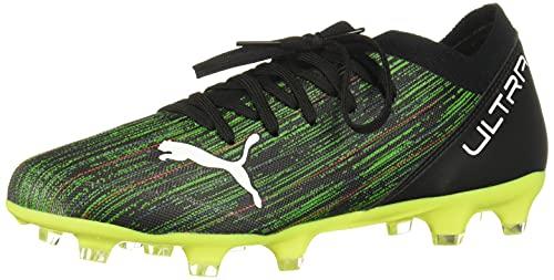 PUMA Men's Ultra 3.2 FG/AG Soccer Shoe, Black White-Yellow...