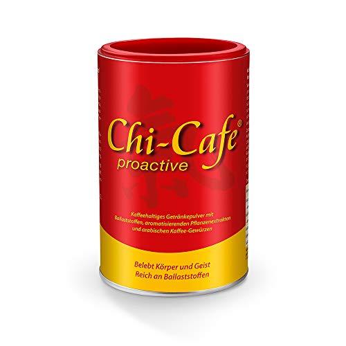 Chi-Cafe Proactive, 1 Dose, 180 g, Pulver I Kaffeehaltiges Getränkepulver I wild und würzig I vegan I mit Kaffee, Guarana, Ginseng, Kaffee-Gewürze