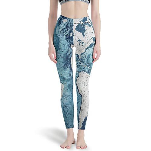 Knowikonwn Pantalones de Yoga Mujer Diseños, Arte Abstracto Zafiro, Mármol-Espejo Diseño Leggings...