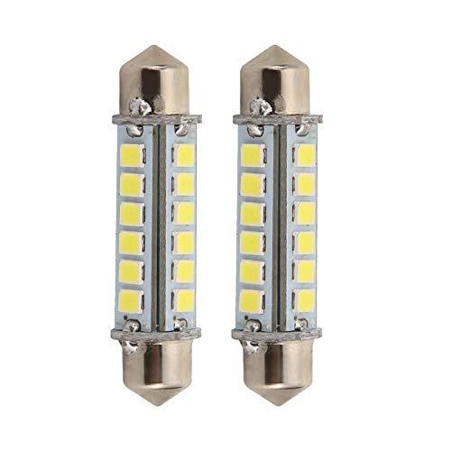 Starnearby LED-lampen Cornlight 24 LED's (2 stuks) dubbele leeslamp 2835-24 43 mm, vermogen: 3 W, kleurtemperatuur: warmwit (2700 K-3000 K), koudwit (6000 K-6500 K), spanning: 12 V