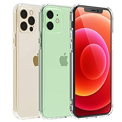 Temdan Clear Case for iPhone 12 Case, iPhone 12 Pro Case, Drop Protection with Premium Clear Composite Material Ultra-Clear Anti-Scratch Anti-Yellow Case for iPhone 12/ iPhone 12 Pro 6.1 inch 2020