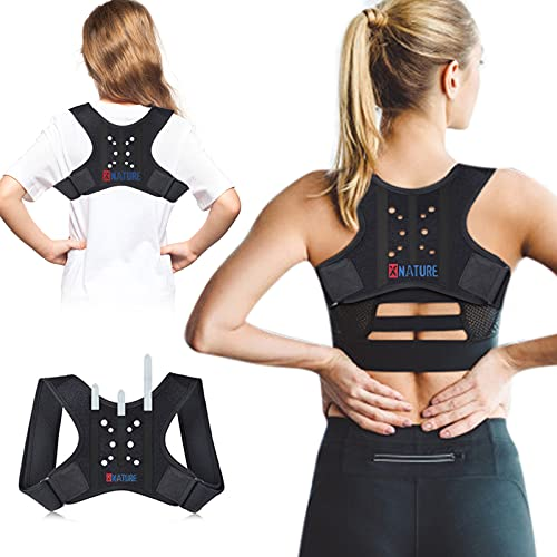 Posture Corrector for Kids, Breathable-Adjustable Concealed Women Men Back Straightener, Lumbar Support, Used to Relieve Upper Back Pain