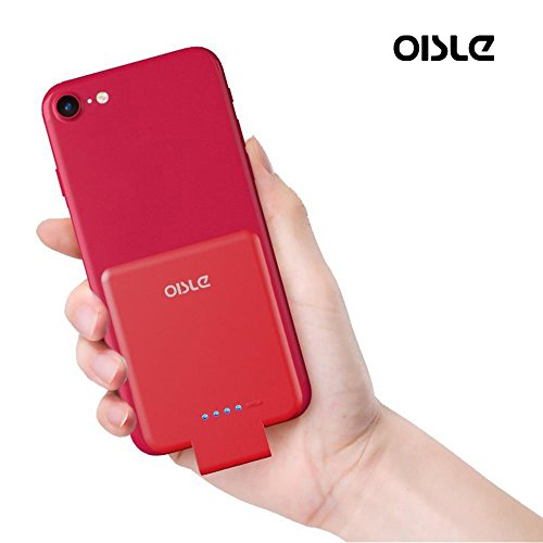 Portable Charger Mini Power Bank PowerCore 2800mAh Wireless External Backup Battery Pack High-Speed Ultra Thin Charging Compatible with iPhone 5(s)/6(s)/7(p)/8(p)/X -Red