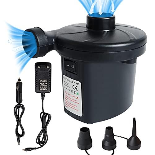 Elektrische Luftpumpe, Luftpumpe mit 3 Luftdüse, 2 in 1 Inflate und Deflate Elektrische Pump für aufblasbare Matratze,Sofa,Luftmatratze Pool,Boot,Schwimmring AC 100V-240V