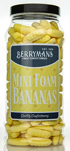 Berrymans Sweet Shop - Mini tarro de golosinas de espuma, diseño retro