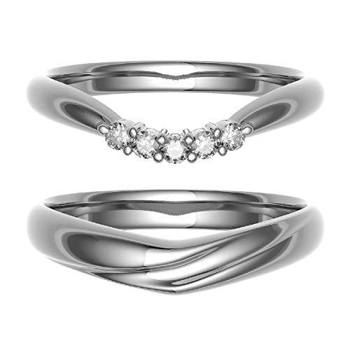 [ココカル]cococaru ペアリング 結婚指輪 K10ゴールド 2本セット マリッジリング ダイヤモンド 日本製(レディースサイズ2号 メンズサイズ3号)