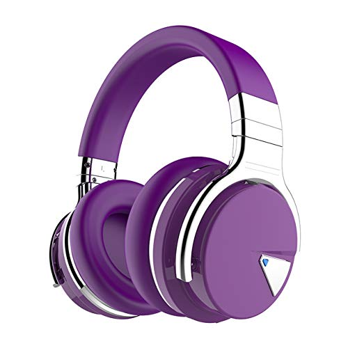LZW Wireless Bluetooth Active Noise Cancelling Headset Bluetooth Headset Headset Phone Headset Sports Stereo Subwoofer Headset Wireless Earbud Stereo for iOS Android,Purple