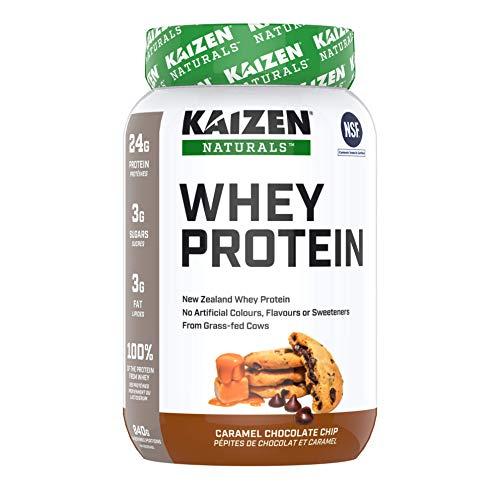 Kaizen Naturals Grass-fed Whey Protein Powder, NSF Certified, Caramel Chocolate Chip, 840 Gram