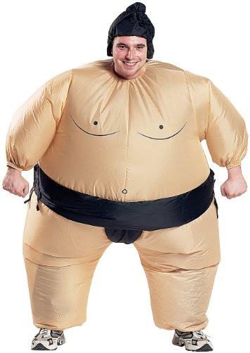 Playtastic Ganzkörper-Kostüme: Selbstaufblasendes Kostüm Sumo-Ringer (Kostüm-Verkleidungen)