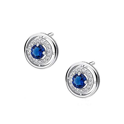 *Oro Cavallo* - Zirkonräder - Farben Varianten - Ohrringe mit Zirconia Swarovski® - Echt Silber 925 - Schön Damen Ohrringe mit Kristallen von Swarovski Elements - Wunderbare Ohrringe !! (Blue)