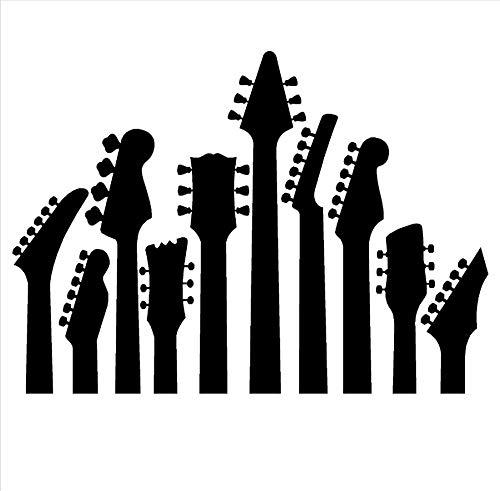 zwyluck 3D-muurstickers, wandtattoo, wanddecoratie, gitaar, muziekserie, wandsticker, wanddecoratie, 57 x 41 cm