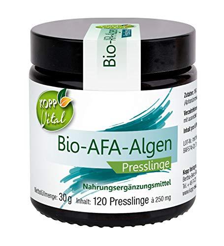 Kopp Vital Bio-AFA Algen Presslinge | 30 g | 120 Presslinge | Vegan | 100% Bio-Alge