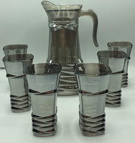 CM Juego de Jarra para Agua 1.5Lts Y 6 Vasos De Agua...