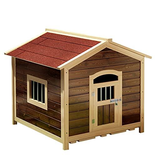 Caseta para Perros de Madera, Refugio para Casas para Perros, Cueva, jaulas para Perros Estilo Muebles, se Puede Usar en Interiores y Exteriores(Size:85 * 78 * 88cm,Color:Rojo)