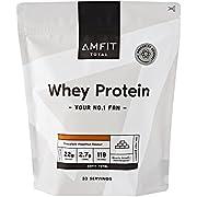 Amazon Brand - Amfit Nutrition Whey Protein Powder 1kg - Chocolate Hazelnut (Previously PBN brand)