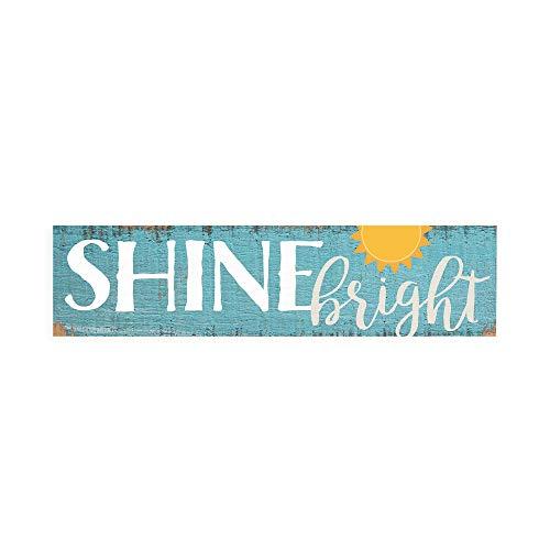 P. Graham Dunn Shine Bright Nautical Blue 6 x 1.5 Mini Pine Wood Tabletop Sign Plaque
