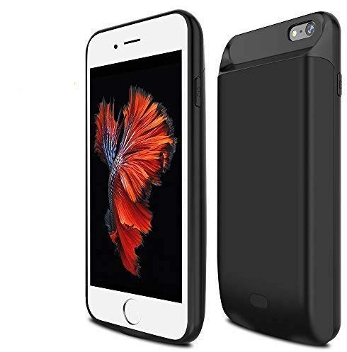 BrexLink iPhone 6 Plus /6s Plus Battery Case,7200mAh High Capacity Protective Battery Case, Fast Charging Rechargeable External Battery Pack with LED Indicator,Compact Power Bank iPhone 6P/6sP (Black)