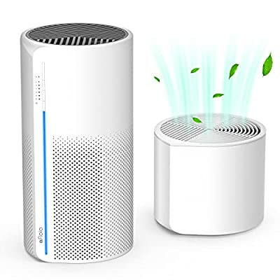 Afloia HEPA Air Purifier with Humidifier, 3 Stage H13 Filters for Home Allergies Pets Hair Smoker Odors, Evaporative Humidifier, Auto Shut Off, Quiet Air Cleaner with Night light, MIRO PRO