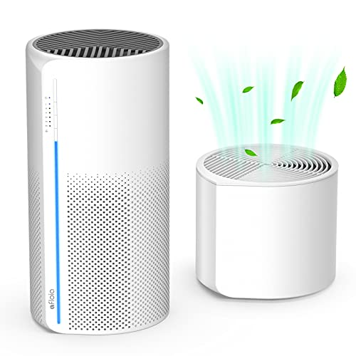 Afloia 2 in 1 HEPA Air Purifier with Humidifier, 3 Stage H13 Filters for Home Allergies Pets Hair Smoker Odors, Evaporative Humidifier, Auto Shut Off, Quiet Air Cleaner with Night light, MIRO PRO