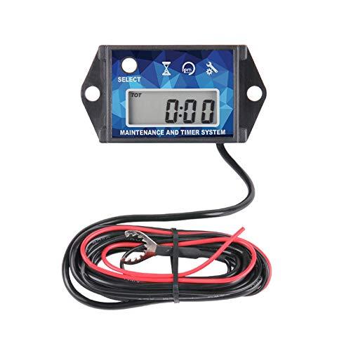 Runleader Tacómetro de cronómetro digital de mantenimiento, retiro máximo de RPM para ZTR Cortacésped Tractor Generador Marine fueraborda ATV