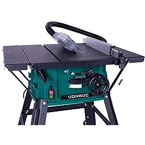 VONROC Tischkreissäge 1500 W – Inkl. 210 mm, 40T Sägeblatt – mit Untergestell