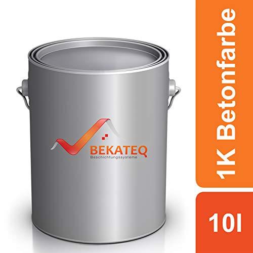BEKATEQ Betonfarbe LS-470 zur Beschichtung und Versiegelung - RAL7023 Betongrau - 10L