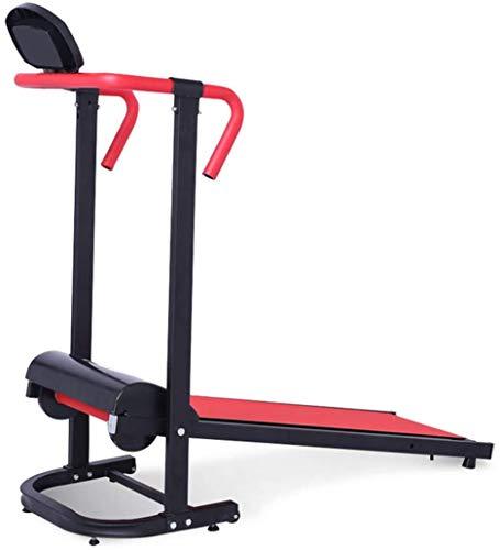 XDHN Mini Faltlaufband, Household Walker Mechanisches Laufband Einrad Laufband Mit Walze, Rot
