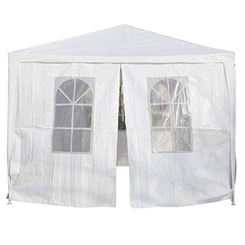 ADHW 3x4m White Gazebo Outdoor Party Gazeebo Tent With Sides Wall Heavy Duty
