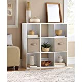 Mainstay 9 Cube Organizer, Multiple Colors | 9-compartment storage cube in White