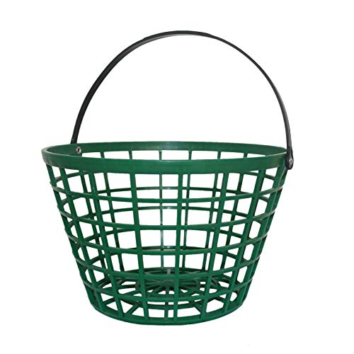 Golfballkorb , Golf Ball Metall Range Korb Golfball Container Mit Griff,Golfballbälle Eimer Golfballkorb Langlebiger Golfkorbbehälter Aufbewahrung Golfzubehör Mit Griff Golfballbehälterhalter