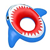 2021 Inflatable Shark Pool, Float Shark Floaties Water Fun Summer Beach Swimming Pool, Tube Inflatables Ride on Pool, Swimming Pool Deck Chairs, Party Raft Lounge Toys for Kids Adults