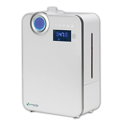 Pure Guardian H7550 Ultrasonic Warm and Cool Mist Humidifier, Extension Wand, 90 Hrs. Run Time, 1.32 Gal. Tank Capacity, 570 Sq. Ft. Coverage, Quiet, Filter Free, Treated Tank Resists Mold