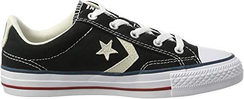 Converse Lifestyle Star Player Ox Canvas, Zapatillas de Deporte Unisex Adulto, Negro (Black/Milk 009), 42 EU