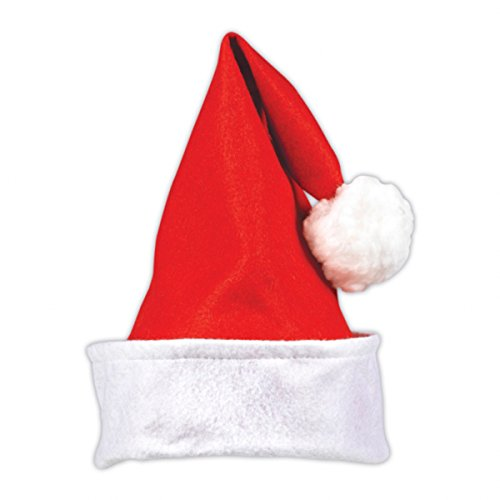 Santa Hat with Felt 13in by Factory Card and Party Outlet