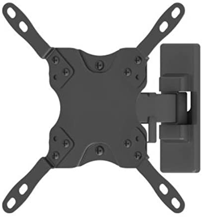 """TooQ LP2042TNL-B - Soporte inclinable y giratorio de pared para monitor/TV/LED de 13"""" a 42"""", hasta 20kg de peso, distancia a la pared 60mm hasta 190mm, inclinación hasta -12º, giro hasta 180º formato VESA hasta 200x200, color negro"""
