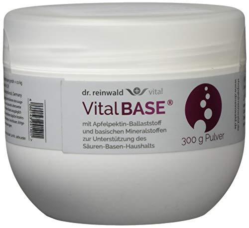 dr.reinwald VitalBASE mit Apfelpektin – Pflanzliches Basenpulver auf magenneutraler Citrat-Basis mit basischen Mineralien & Spurenelementen – Für eine gesunde Säure-Basen-Balance – 300g